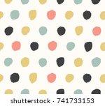 watercolor  background in... | Shutterstock .eps vector #741733153