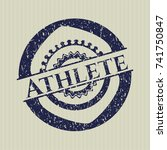Blue Athlete Distressed Rubber...