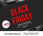 black friday  sale poster... | Shutterstock .eps vector #741755737