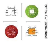 digital wallet icon. flat... | Shutterstock .eps vector #741758233