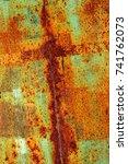 abstract rusty metal texture ... | Shutterstock . vector #741762073