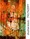 abstract rusty metal texture ... | Shutterstock . vector #741762097
