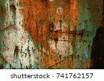 abstract rusty metal texture ... | Shutterstock . vector #741762157