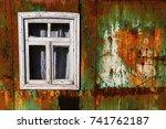 abstract rusty metal texture ... | Shutterstock . vector #741762187