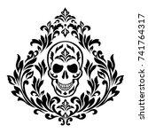 vintage. skull for tattoos and...   Shutterstock .eps vector #741764317