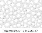seamless pattern. hexagons.... | Shutterstock .eps vector #741765847