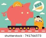 taking the savings | Shutterstock .eps vector #741766573