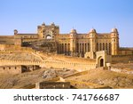 the amber palace or fort  a... | Shutterstock . vector #741766687