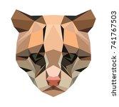 vector polygonal ocelot... | Shutterstock .eps vector #741767503
