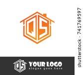 initial letter q  s  qs... | Shutterstock .eps vector #741769597