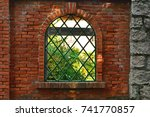 Garden Fence Brick Wall With...