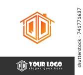 initial letter q  d  qd... | Shutterstock .eps vector #741771637