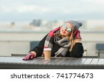 outdoors lifestyle fashion... | Shutterstock . vector #741774673