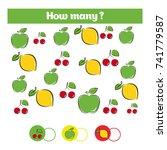counting educational children... | Shutterstock .eps vector #741779587