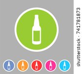 craft beer bottle template... | Shutterstock . vector #741781873