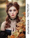 close up portrait of... | Shutterstock . vector #741791737