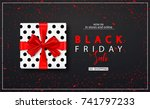 black friday sale background... | Shutterstock .eps vector #741797233
