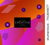 minimal universal banner... | Shutterstock .eps vector #741804877