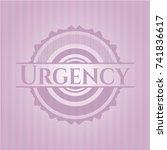 urgency retro style pink emblem | Shutterstock .eps vector #741836617