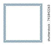 decorative square frame in...   Shutterstock .eps vector #741842263