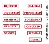 a set of rubber stamps on a... | Shutterstock .eps vector #741844183