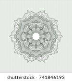 green money style rosette | Shutterstock .eps vector #741846193