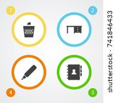 set of 4 workspace icons set... | Shutterstock .eps vector #741846433