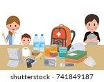 objects useful in emergency...   Shutterstock .eps vector #741849187