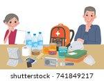 objects useful in emergency... | Shutterstock .eps vector #741849217