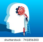 improved thinking | Shutterstock .eps vector #741856303