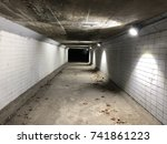 the tunnel to park by theriver  ... | Shutterstock . vector #741861223