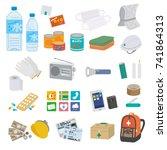 disaster preventive goods... | Shutterstock .eps vector #741864313
