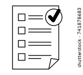 paper document checklist icon | Shutterstock .eps vector #741878683