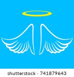 illustration of angel wings... | Shutterstock .eps vector #741879643