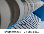 static stopped industrial... | Shutterstock . vector #741881563