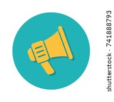 flat icons for megaphone vector ... | Shutterstock .eps vector #741888793