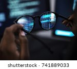 computer coding shoot  | Shutterstock . vector #741889033