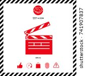 clapperboard icon | Shutterstock .eps vector #741907837