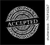 accepted chalkboard emblem | Shutterstock .eps vector #741910267