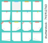 paper notes and stickers.... | Shutterstock .eps vector #741912763