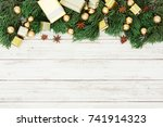 christmas decoration on the... | Shutterstock . vector #741914323
