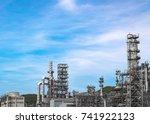 industrial zone the equipment...   Shutterstock . vector #741922123