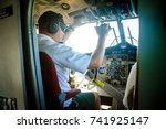 interior details of a water... | Shutterstock . vector #741925147