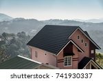 scenic view of house among pine ... | Shutterstock . vector #741930337