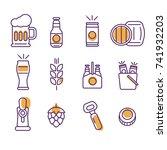 set of beer icon. cap   wheat   ... | Shutterstock .eps vector #741932203