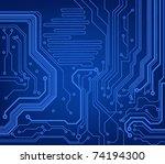 circuit board pattern. vector... | Shutterstock .eps vector #74194300