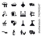 16 vector icon set   factory... | Shutterstock .eps vector #741943147