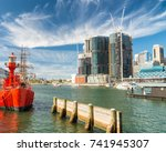 darling harbour buildings on a... | Shutterstock . vector #741945307