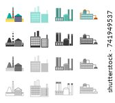 processing plant  industrial...   Shutterstock . vector #741949537