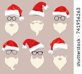 christmas festive graphic card... | Shutterstock .eps vector #741956263